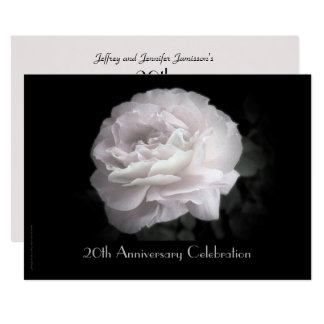 20th Anniversary Party Invitation Pale Pink Rose