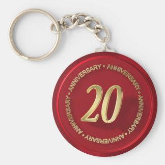 20th anniversary red wax seal keychain