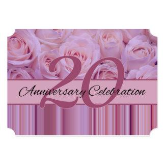 20th anniversary rose invitation