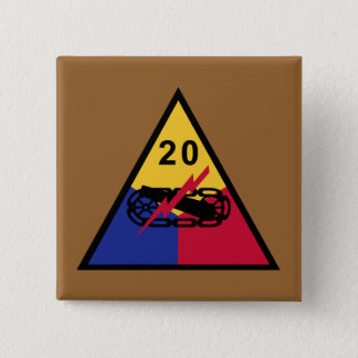 20th Armored Division Pinback Button