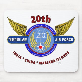 """20TH ARMY AIR FORCE """"ARMY AIR CORPS"""" WW II MOUSE PAD"""