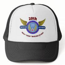 "20TH ARMY AIR FORCE ""ARMY AIR CORPS"" WW II TRUCKER HAT"