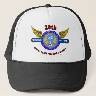 "20TH ARMY AIR FORCE ""ARMY AIR CORPS"" WW II TRUCKER HAT"