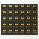 """[ Thumbnail: 20th Birthday – Art Deco Inspired Look """"20"""" & Name Wrapping Paper ]"""