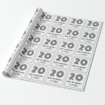 """[ Thumbnail: 20th Birthday: Art Deco Inspired Style """"20"""" + Name Wrapping Paper ]"""