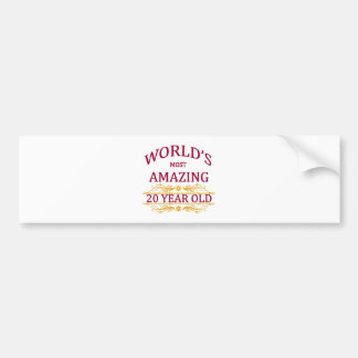 20th. Birthday Bumper Sticker