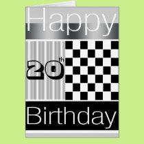 20th Birthday Card
