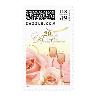 20th Birthday Celebration Postage Stamps