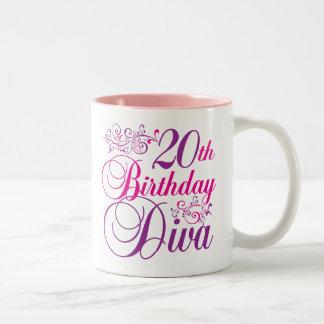 20th Birthday Diva Mug
