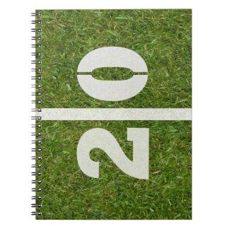 20th Birthday Football Field Notebook