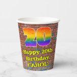 [ Thumbnail: 20th Birthday: Fun Graffiti-Inspired Rainbow 20 ]