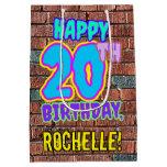 [ Thumbnail: 20th Birthday: Fun, Urban Graffiti Inspired Look Gift Bag ]