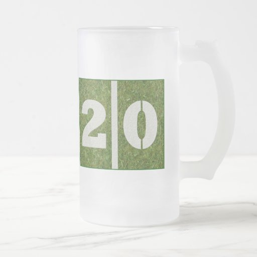 20th Birthday Glass Mug