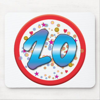 20th Birthday Mouse Mats