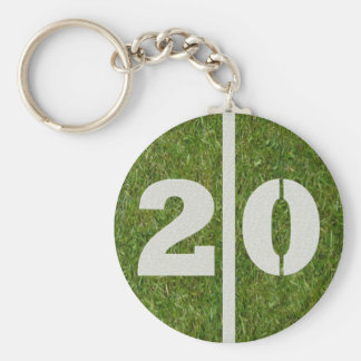 20th Birthday Party Favor Keychains
