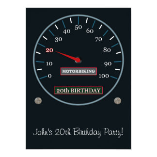 "20th Birthday Party Invitation 6.5"" X 8.75"" Invitation Card"