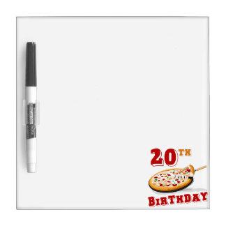 20th Birthday Pizza Party Dry-Erase Whiteboard