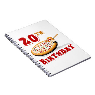 20th Birthday Pizza Party Journals