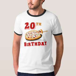 20th Birthday Pizza Party T-Shirt