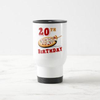 20th Birthday Pizza Party Travel Mug