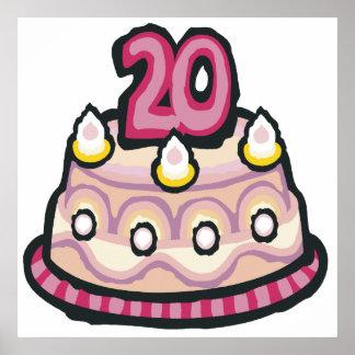 20th Birthday Poster