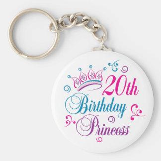 20th Birthday Princess Keychain