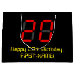 "[ Thumbnail: 20th Birthday: Red Digital Clock Style ""20"" + Name Gift Bag ]"