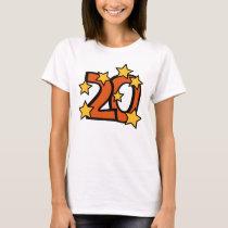20th birthday star t-shirt