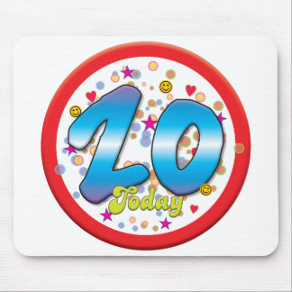 20th Birthday Today Mouse Mat