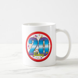 20th Birthday Today v2 Coffee Mugs