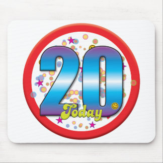 20th Birthday Today v2 Mouse Mats