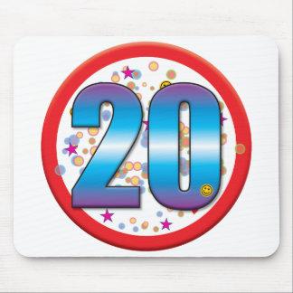 20th Birthday v2.pdf Mouse Pad