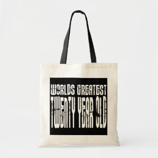 20th Birthdays Worlds Greatest Twenty Year Old Canvas Bag
