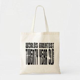 20th Birthdays Worlds Greatest Twenty Year Old Canvas Bags