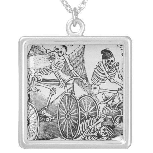 20th century Calavera Silver Plated Necklace