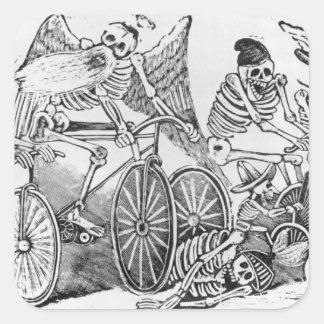 20th century Calavera Square Sticker