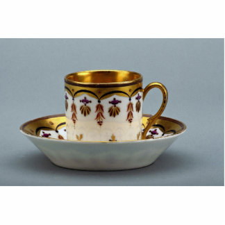 20th century coffee cup and saucer, Germany Standing Photo Sculpture