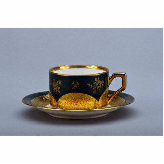 20th century coffee cup and saucer, Jaworzyna Sl., Standing Photo Sculpture