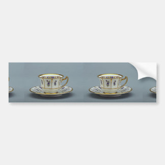 20th century coffee cup and saucer, Rosenthal, Ger Car Bumper Sticker