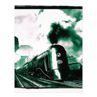 20th Century Limited Train Art Letterhead