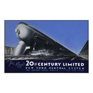 20th Century Limited - Water level Route Poster