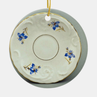 20th century saucer, Germany  flowers Christmas Ornament