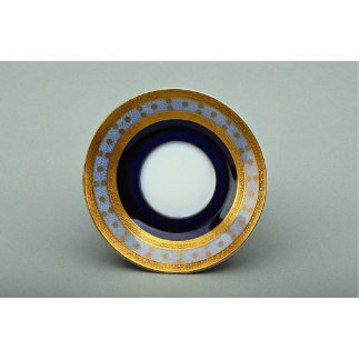 20th century saucer plate with inspiring design standing photo sculpture