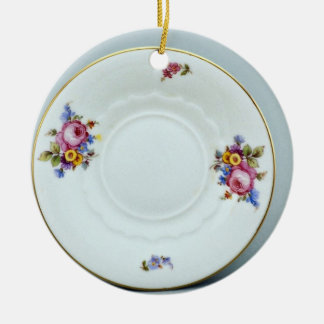 20th century saucer, Rosenthal, Germany  flowers Christmas Ornament