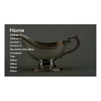 20th century silver plated sauce boat, Canada Business Card