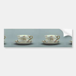 20th century tea cup and saucer, Bavaria, Germany Car Bumper Sticker