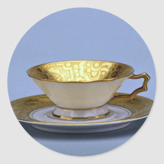 20th century tea cup and saucer, Bavaria, Germany Classic Round Sticker