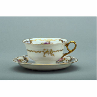 20th century tea cup and saucer, Bavaria, Germany Standing Photo Sculpture