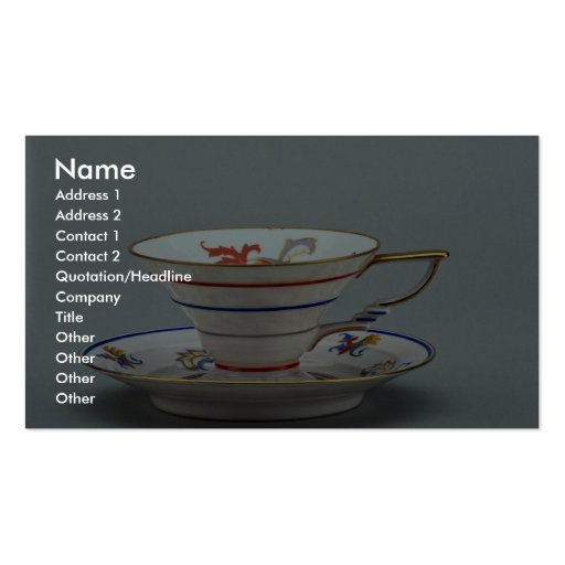 20th century tea cup and saucer, Germany Business Card Templates