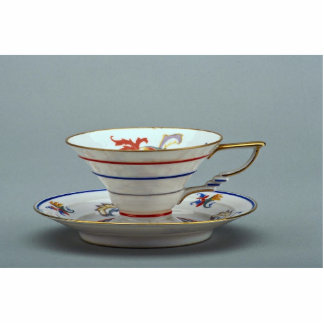 20th century tea cup and saucer, Germany Standing Photo Sculpture